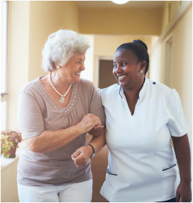 Companion Care Staff accompanying the elder patient