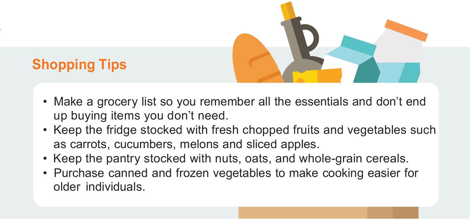 Recipes for Seniors - Shopping Tips